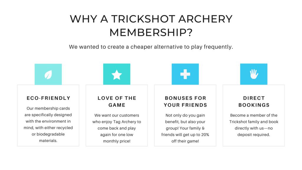 Trickshot Archery Memberships